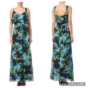 NWT Adrianna Papell Printed Burn Out Maxi Dress